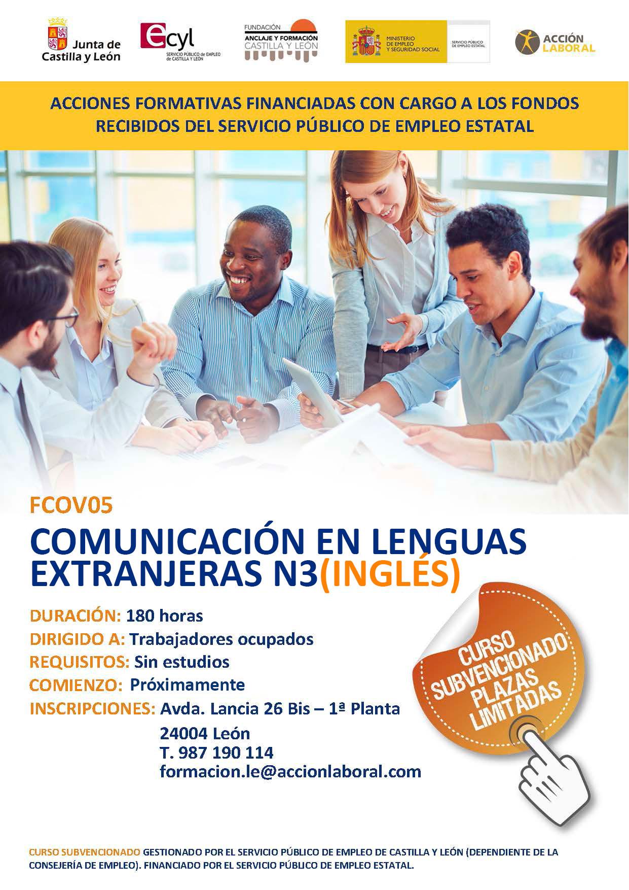 curso-ingles-nivel3-leon-segunda-convocatoria